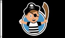 Little Pirate Captain Children's Birthday Party Banner 5'x3' (150cm x 90cm) Flag